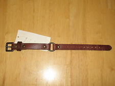 Polo Ralph Lauren Men's Brown Leather Bracelet with Center Ring New w/ Tags!
