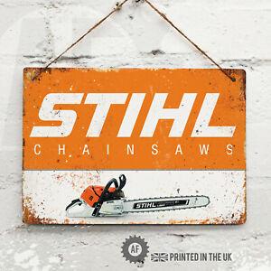 STIHL (Landscape) Metal Wall Sign Pub Bar Home Mancave Garage Chainsaw Tool Shed