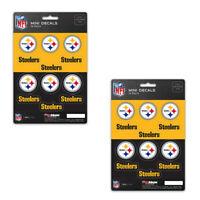 New 24 Premium Die-Cut Mini Vinyl Decal / Sticker Pack - NFL Pittsburgh Steelers