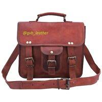 """Men's Vintage 11"""" Tabelt Genuine Leather Messenger Laptop Satchel Shoulder Bag"""