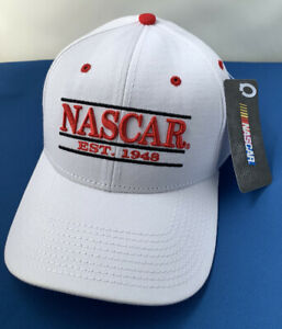 Nascar Est 1948 Adjustable Racing Adjustable Hat CAP White/Red New w Tags