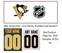 NHL Pittsburgh Penguins Lettering Custom Jersey Kit ANY YEAR Name Number UNSEWN