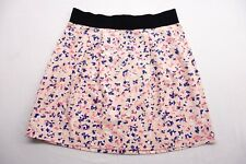 f62bb03090 New Forever 21 Womens  115159 Peach Floral Print Above Knee Stretch Skirt  Medium