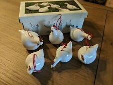 Catherine Hunter Les Poules Chicken Set Of 6 Ornaments