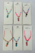 Wholesale 12 PCS Childrens Kids Girls Pineapple Charm Necklaces Mix Colors New