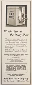 1925 AD.(XF13)~SANISCO CO. MILW., WIS. ICE CREAM SANDWICH VENDING MACHINE