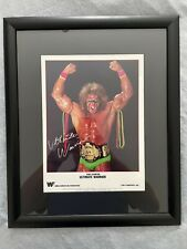 More details for ultimate warrior 1990 - glass framed promo picture titan sports wwf fan club wwe