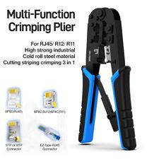 RJ45/11 Crimping Tool Ethernet Network LAN Cable Crimper Cutter Stripper Plier
