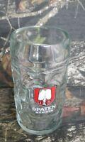 Spaten Munchen Beer Stein Mug 1 Liter Dimpled Clear Glass Austria