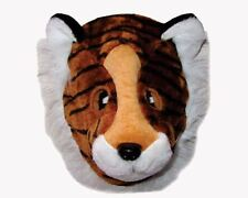 Plush Pretendplay Striped Tiger Mask for Adults by Dress Up America