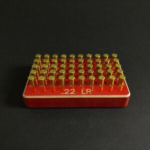 50rd .22 lr Box Case Storage Holder engraved ruger cz long rifle savage long