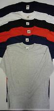 Fruit Of The Loom Adults Mens Ladies Plain Long Sleeve Tshirt Shirts T Shirt