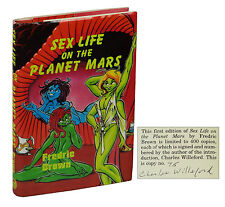 Sex Life on the Planet Mars FREDRIC BROWN ~ SIGNED by CHARLES WILLEFORD ~  1986