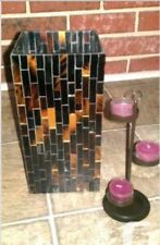 """Partylite Mosaic Global Ambiance Hurricane 12"""" - Retired - New With Box"""
