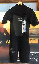 NWT Billabong Mens FOIL Sealed 2mm Chest Zip Wetsuit Shorty SZ S $99
