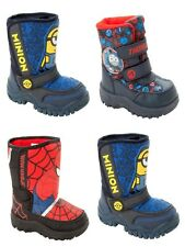 BOYS OFFICIAL BRANDED CHARACTER WARM WINTER SNOW BOOTS SHOES INFANTS SIZE 5-1