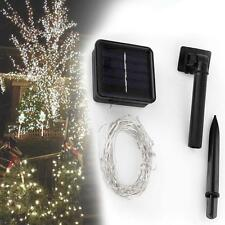 Hot 10M Solar String Light Chain 100 LED Copper Wire Outdoor Party Lamp White GA