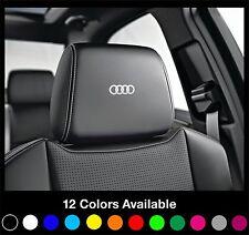 6x AUDI Logo Headrest Car Seat Decals Badge Sticker Quattro S Line A1 A3 A4 A6
