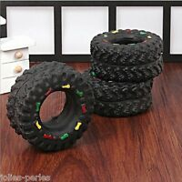 New Animal Sounds Tire Pet Dog Toy Puppy Cat Chews Squeaky Squeaker Rubber Toys