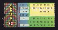 1983 Journey Bryan Adams concert ticket stub Meadowlands Arena Frontiers