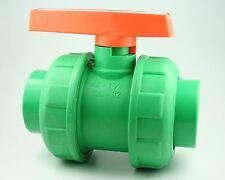 Aqua plus PPR fusiotherm Válvula de bola para 40mm Conducto de agua, grifo agua