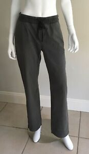 SPORTSCRAFT Casual Long Pants 12 Olive Green Cotton Drawstring Waist Pockets GC