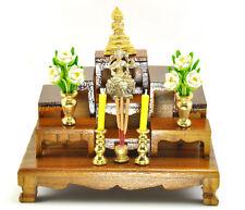 Nice SET of 9 mini Altar wood Tables worship Thai Buddha Buddhist amulet