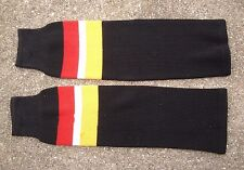 Topeka Scarecrows CHL Knit Hockey Socks ~ Black Red Yellow L ~ USHL