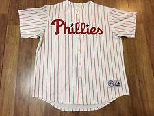 MENS XL - Vtg MLB Philadelphia Phillies #33 Aaron Rowand Majestic Sewn ON Jersey