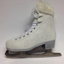 Oxelo Ice Art 3 silber/Fell Schlittschuhe Damen Schlittschuh Eiskunstlauf Gr. 42