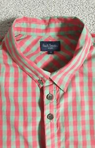 Paul Smith Jeans Check Long Sleeve Shirt - Size M