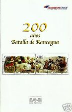 Chile, 200th. Anniv. Battle Of Rancagua, Year 2014, Brochure, Stamps Not Include