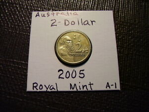 $2  Australia from Royal Mint   **2005**   Gold Color   Lot A1