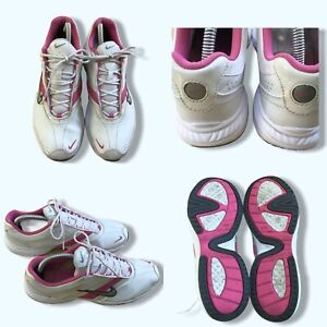 NIKE FCS Steady VII Trainers Size 7 Womens White Pink Used VGC