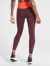 Athleta Tenacity 7/8 Tight in Powerlift, Antique Burgundy, Size XS, NWT