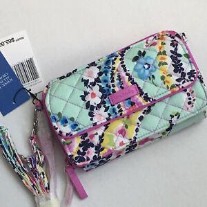 Vera Bradley RFID All In One Crossbody Purse Wildflower Paisley Wristlet Wallet