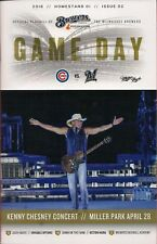 KENNY CHESNEY ON COVER MILWAUKEE BREWERS 2018 OFFICIAL GAMEDAY PROGRAM ISSUE #2