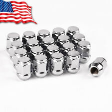 20 Chrome 1/2-20 Lug Nuts Bulge Acorn Cone Seat Closed End Fits Jeep KJ CJ Ford