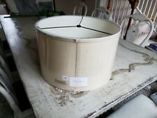New Pottery Barn Straight Sided Drum Burlap Shade LARGE Bleached