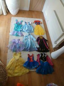 Girls Disney Fancy Dress 3-4 and 5-6 Years anna elsa , belle, ariel
