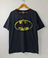 Batman Mens Black Graphic Printed T-Shirt Crew Neck Short Sleeve Size XXL