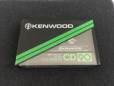 KENWOOD CD 90 vintage audio cassette blank tape sealed Japan. For collectors