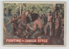 1956 Topps Davy Crockett Series 1 #33 Fighting- Indian Style Non-Sports Card 0s4