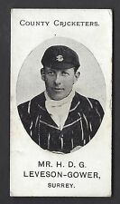 TADDY - COUNTY CRICKETERS - MR H D G LEVESON GOWER, SURREY