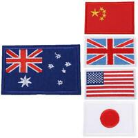 International World Countries Flag Embroidered Iron ON Patch Arm Badge Patch Hot