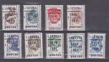 LITHUANIA SELECTION OF 9 STAMPS MNH PRIVAT