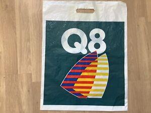 Vintage Retro Q8 Kuwait Petroleum International Plastic Carrier Bag 52cm x 40cm