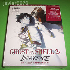 GHOST IN THE SHELL 2 INNOCENCE BLU-RAY + DVD + LIBRO NUEVO Y PRECINTADO