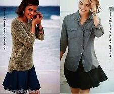 New Womens Black Grey / Blue Denim NEXT Skater Skirt Size 18 16 14 12 10 8 6
