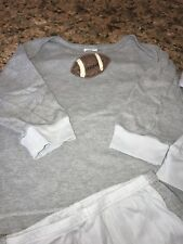 Soup Baby Boys Boutique Fall Football Outfit 24 Mos Light Blue/Gray Soft!